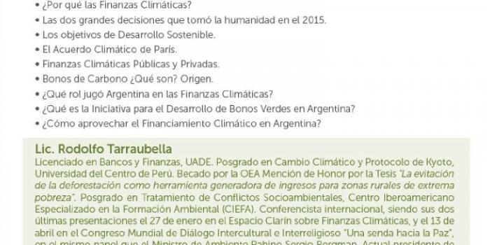 """Conferencia """"Finanzas Climáticas"""" en Resistencia, Chacho"""